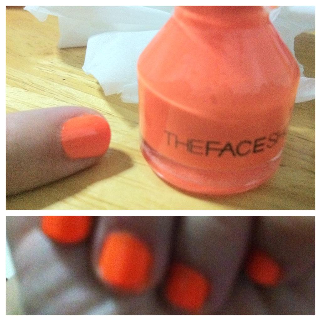 The Face Shop Neon Orange Nail Color
