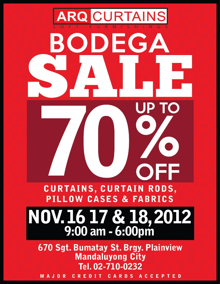 ARQ CURTAINS Bodega Sale 2012