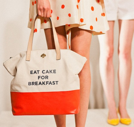 Kate Spade East Cake for Breakfast Canvas Tote Bag