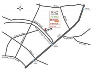 Map to Pipino Vegetarian Restaurant Jupiter Makati Branch