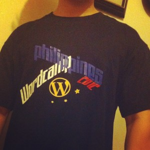 WordCamp Philippines 2012 T-shirt