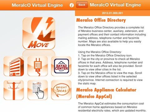 Meralco Virtual Engine Move iPhone App