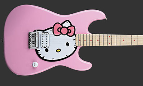 Pink Hello Kitty Guitar