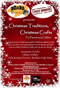 Christmas Traditions Christmas Crafts Workshop by Queti Azurin