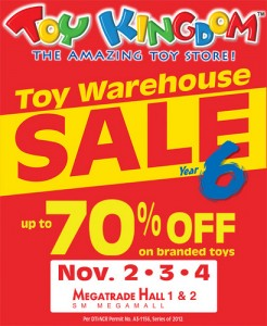 Toy Kingdom November Warehouse Sale 2012