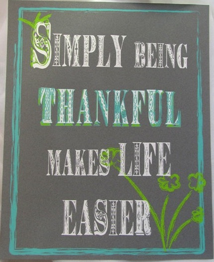simply being thankful makes life easier