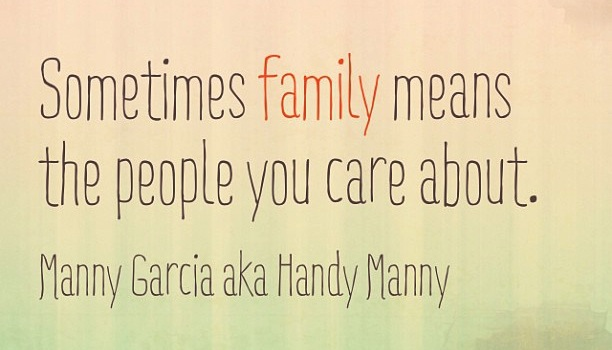 quote about family - people you care about