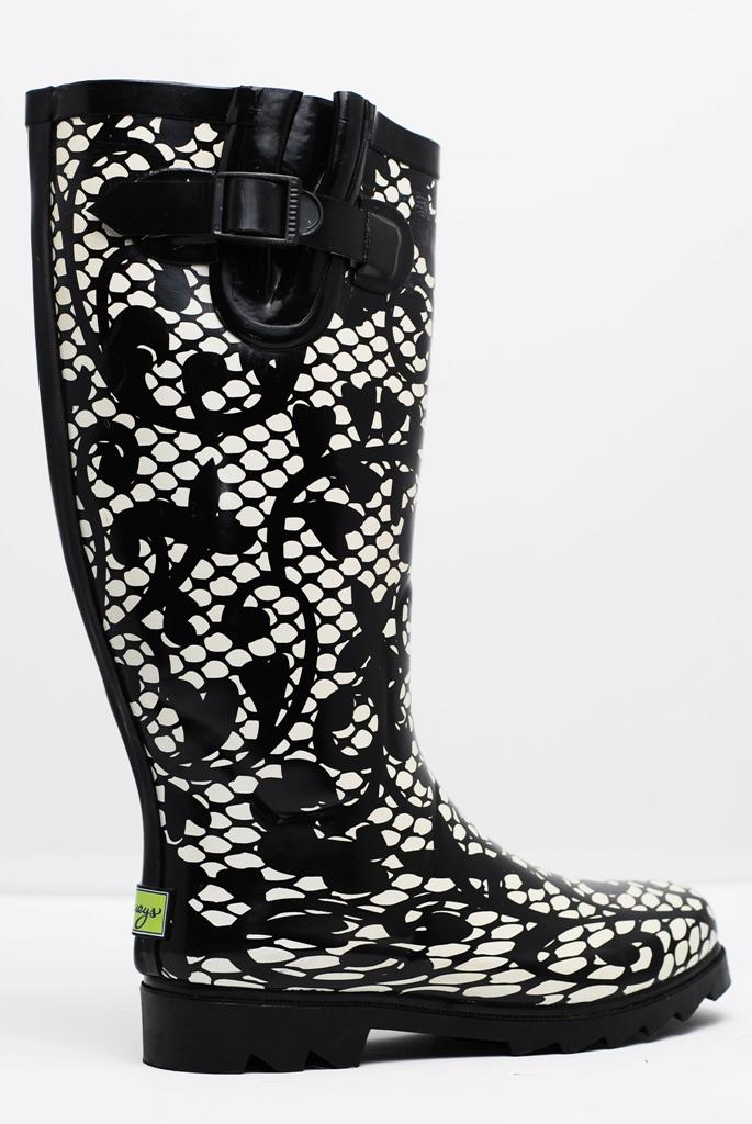 plueys Oooh La Lace rain boots