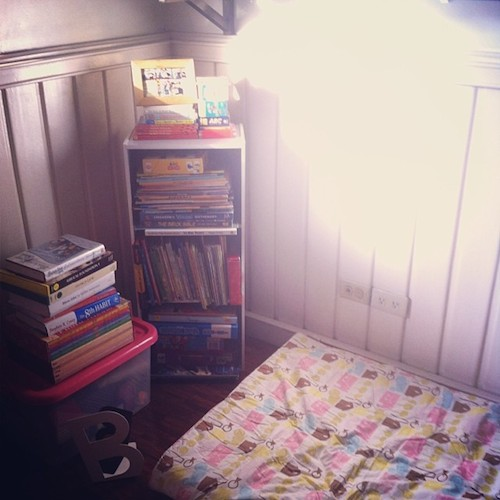 temporary reading nook
