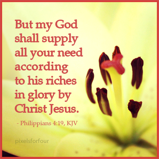 Bible verse about God's provision